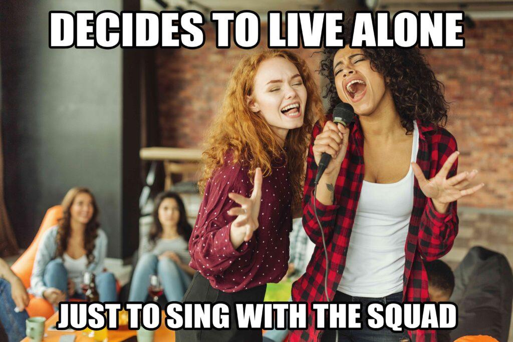 vrienden zingen